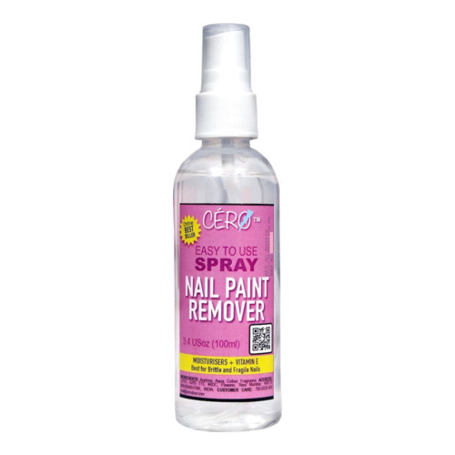 CERO Nail Paint Remover (ACETONE) Easy to Use SPRAY (100ml)
