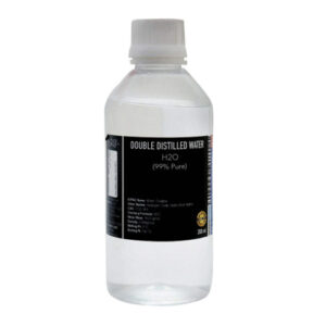 CERO DOUBLE DISTILLED WATER 99% Pure [H2O] CAS: 7732-18-5 (200ml)