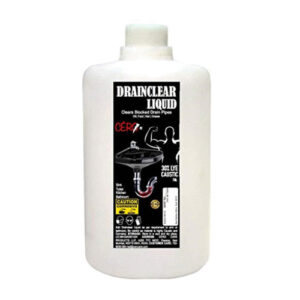 CERO Drainclear Liquid to Clear Clogged Drains; Sinks and Pipes (1LIT)