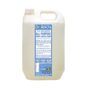 CERO Dr Rao's Unscented All Purpose Pure Castile Soap, Perfect for DIY Projects (5 Lit.)