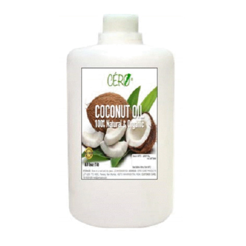 Cero COCONUT OIL 100% Natural and Organic (1LIT) No additives, pure and natural. Organic, No Artificial Flavour, No Preservatives, No Genetic Engineering, No Added Sugar, No Added Salt