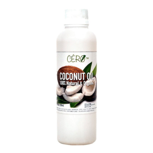 Cero COCONUT OIL 100% Natural and Organic (200ml) No Artificial Flavour, No Preservatives, No Genetic Engineering, No Added Sugar/Salt