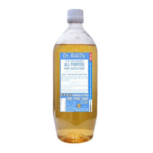 CERO Dr Rao's Unscented All Purpose Pure Castile Soap, Perfect for DIY Projects (1 L)