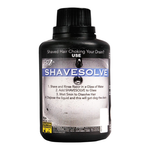 Cero SHAVESOLVE Dissolves Shaved Hair in Glass to PREVENT Drain Clogs