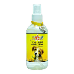 Cero 100% Natural Ticks, Fleas & Mites Repellent Spray For Pets (Dog / Cat / Others) (200Ml)